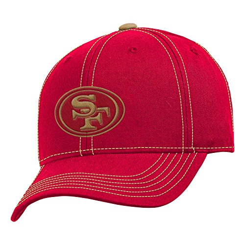 San Francisco 49ers NFL Youth Adjustable Velcro with Contrast Stitching Cap