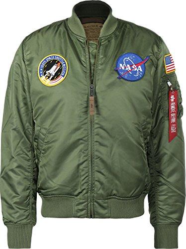 Industries Verde 1 MA VF bombardero Logo de chaqueta Verde NASA Hombre Alpha PqpdwP