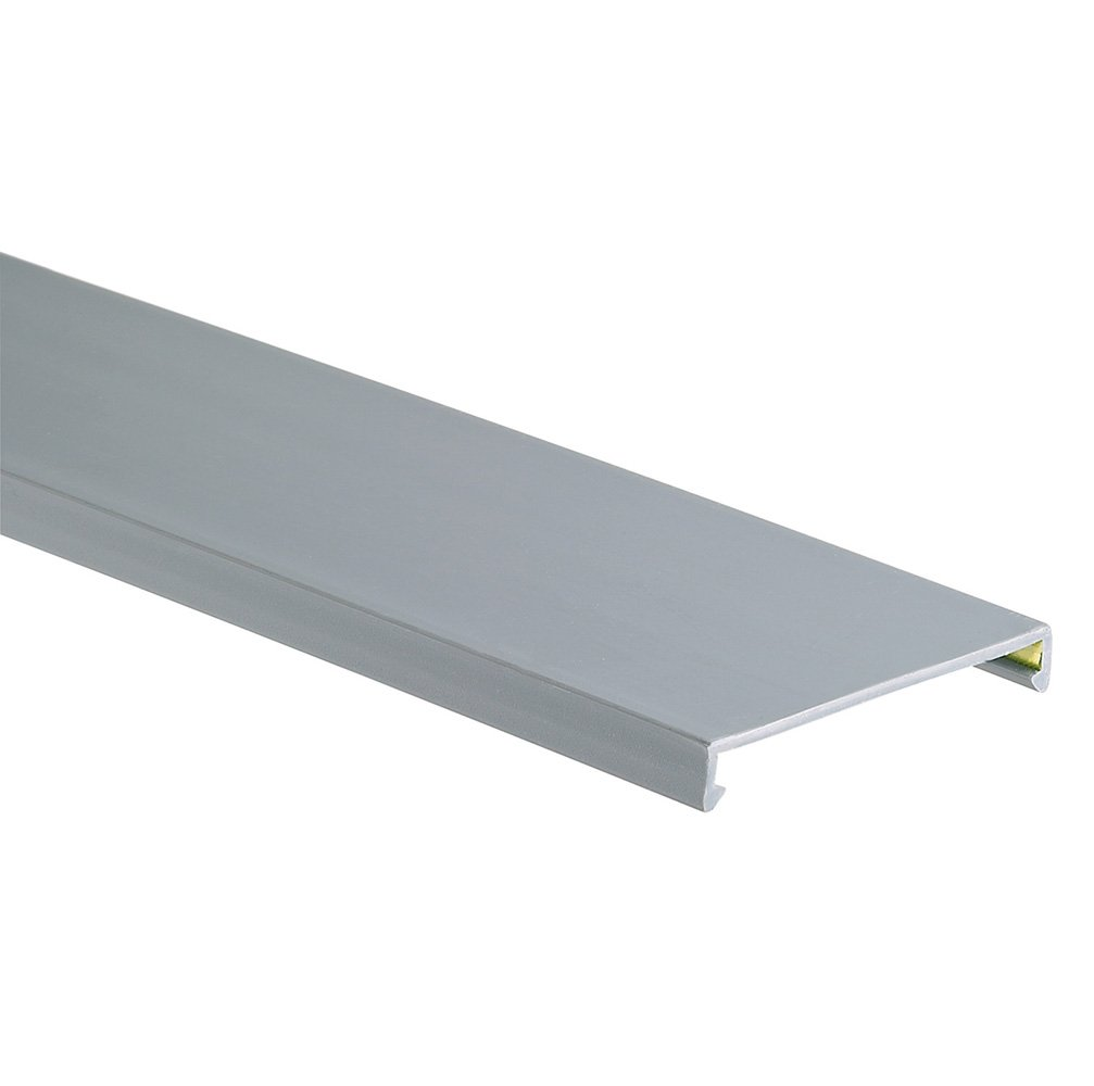 Panduit C3LG6 Wiring Duct Cover, PVC, Light Gray