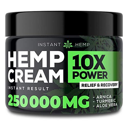 Instant Hemp Pain Relief Cream – 3,000,000 – Relieve Muscle, Joint & Arthritis Pain – Natural Hemp Extract for Arthritis…