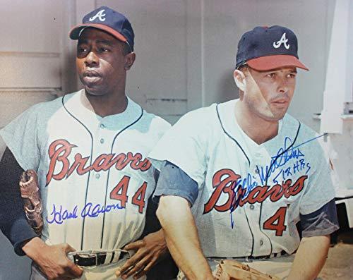 Hank Aaron & Eddie Matthews Autographed Milwaukee Braves 16x20 Photo 22162 - Autographed MLB Photos