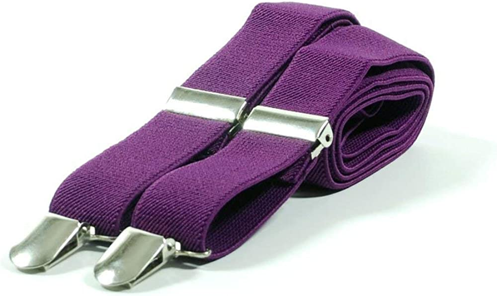 Max-mph Mens Plain Trouser Braces Suspenders