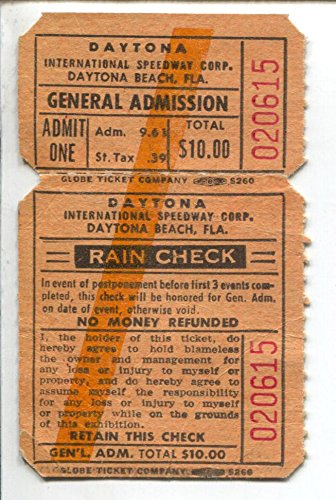 Daytona International Speedway NASCAR Race Ticket 1976-Daytona 500-FN - Daytona 500 Tickets