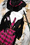 Kids Girls Nerdy Witch Halloween Costume Witchcraft Academy Dress Up & Role Play (3-6 years, black, pink., white)