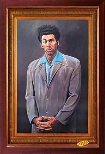 FRAMED Kramer Painting Replica 24x36 Poster in Real Wood Walnut Brown Finish Crafted in USA