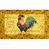 country rooster kitchen mat
