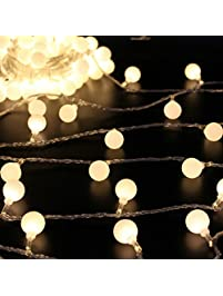 Good 50 Leds 16 Feet Globe LED String Lights Battery Powered Indoor Outdoor  Decorative Fairy Lights Curtain