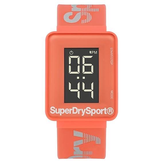 Superdry Reloj Mujer de Digital con Correa en Silicona SYL204C