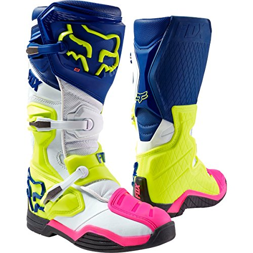 Fox Racing Comp 8 Men's Off-Road Motorcycle Boots - Navy/White/Size 10 ()