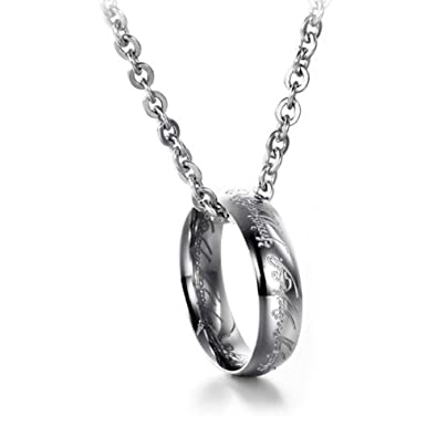 Neevas 316l stainless steel mens jewelry movie lord of the rings neevas 316l stainless steel mens jewelry movie lord of the rings pendant ring necklace silver amazon jewellery aloadofball Choice Image