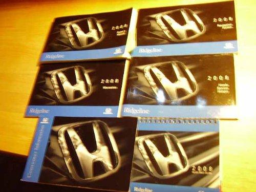 2008 Honda Ridgeline with Nav manual Owners Manual