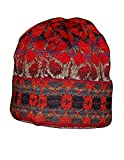 Invisible World Women's 100% Alpaca Wool Hat Knit Beanie Winter Md Summer Red