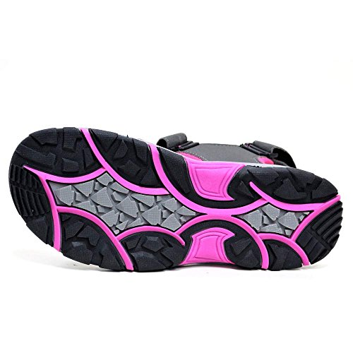 para Grey Sandalias Fuchsia mujer deportivas Dunlop negro negro 6UqTwx