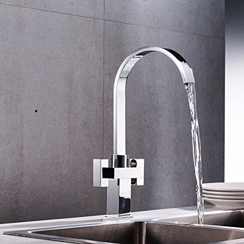 Double Handle faucet swivel faucet kitchen Mixer Taps and cold water faucet water faucet waterfall faucet single hole Faucet
