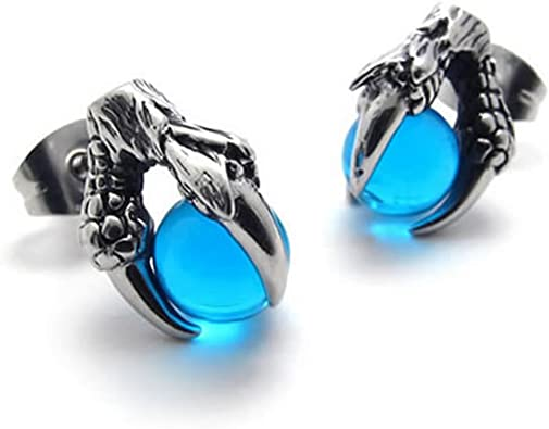 boucle d'oreille hommes bleu