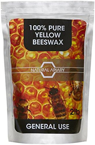 NATURAL APIARY 100% PURE BEESWAX PELLETS - 2LB GENERAL USE Pastilles, DIY...