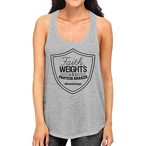Mujer 365 Camisa mangas estampada sin gris 8YgAA1Wwq