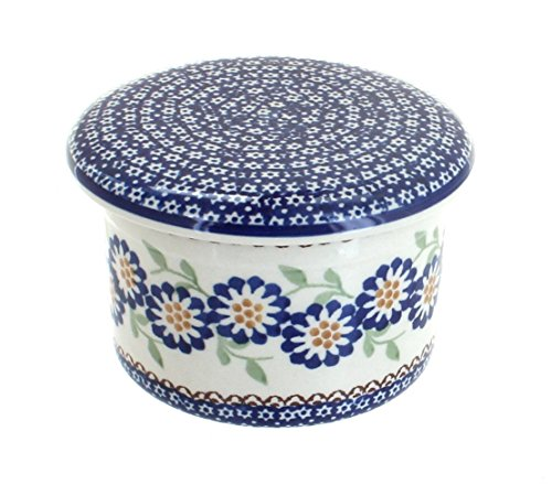 polish-pottery-peach-blossom-french-butter-dish