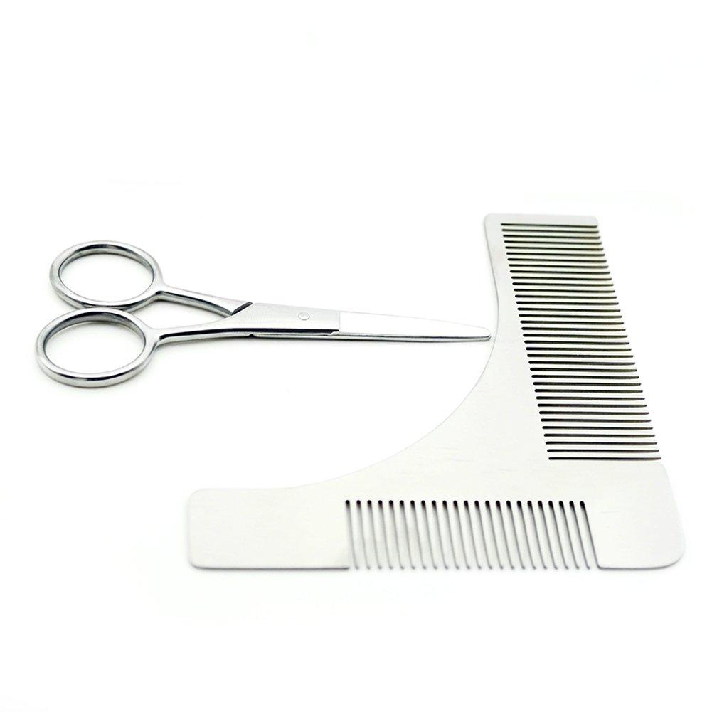 Beard Trimming Comb Scissors Kits Beard Sharper Styling Trimming Grooming Tools QiaoQiaoMu