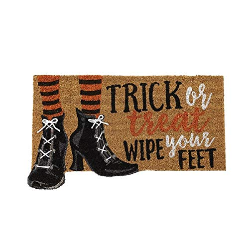 Mud Pie Trick or Treat Wipe Your Feet Halloween Coir Doormat]()