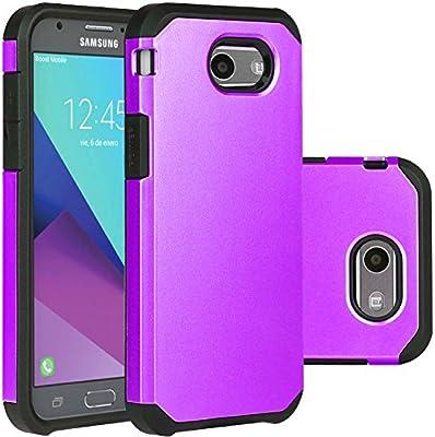 promo code eccbb e22f6 Purple Samsung Galaxy J3 Emerge Case/J3 Prime/J3 2017/Amp Prime 2/Express  Prime 2/Sol 2/J3 Luna Pro/J3 Eclipse/J3 Mission Case, LUHOURI Hybrid Armor  ...