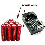 4X ConstePor Rechargeable 18650 battery ,3.6-3.7V 3000mAh 18650 Li-ion battery, with 1 PCS 18650 Li-ion battery charger ;,expert work for flashlights,headlamp,etc.. No match Electronic cigarettes.