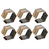 DII Modern Chic Place Card Holder Napkin Rings for Wedding Receptions, Office Parties, Catered Events, Holiday Dinners, or Everyday Use - Antique Sliver, Set of 6
