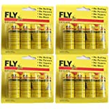 Fly Paper Strips,Fly Trap, Fly Catcher Trap, Fly Ribbon, Fly Bait Victor Fly Bait --Set of 4 Card,16 PCS