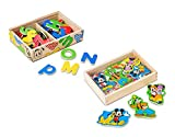 Melissa & Doug Disney Mickey Mouse Wooden Character Magnets, Developmental Toys, Wooden Storage Case, 20...