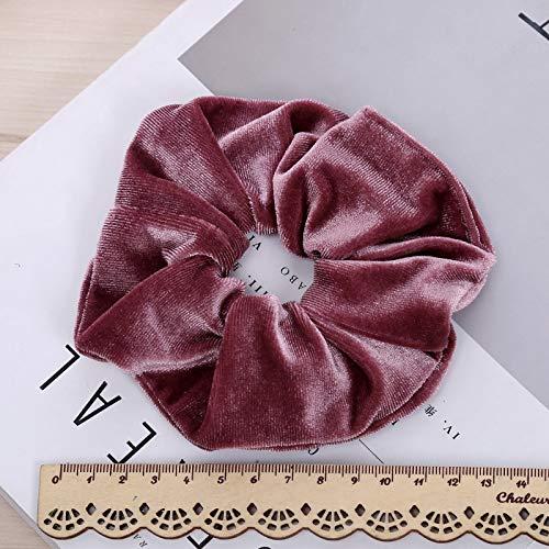 Drawihi Fasce elastiche per legare i capelli a coda per Capelli Morbido colorato Accessori per Capelli Stile Retr/ò per Donne Ragazze nero