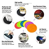 Colorful Coasters for Drinks Absorbent, Rubber
