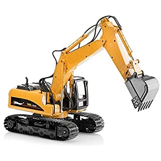 Top Race Excavator Toy Trucks Construction Toys, Excavator Toys for Boys, Diecast Metal Truck Toy, Kids Tractor Toys 1:40 Scale, Great Toddler Toys for 2,3 Year Old Boys and up