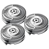 SH50/52 Replacement Heads Set of 3 Shaver Shaving-PlanetTM Blades for Philips Norelco Compatible Electric Shaver Series 5000 HQ8 HQ9