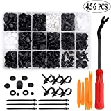 Uolor 456 Pcs Car Retainer Clips & Plastic Fasteners Kit with Fastener Remover, 19 Most Popular Sizes Auto Push Pin Rivets Set, Bumper Door Trim Panel Clips Assortment