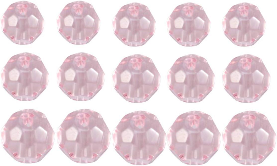 HEALLILY Joyería Perlas Sueltas Perlas de Cristal de Piedras Preciosas Perlas Espaciadoras de Vidrio para Collar Pulsera Diy Suministros de Fabricación de Joyas 300 Piezas