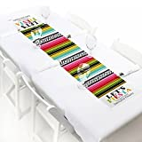 Custom Mexican Fiesta - Personalized Petite Mexican Fiesta or Cinco de Mayo Party Paper Table Runner - 12'' x 60''