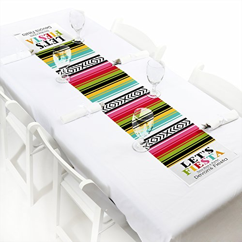 Custom Mexican Fiesta - Personalized Petite Mexican Fiesta or Cinco de Mayo Party Table Runner - 12