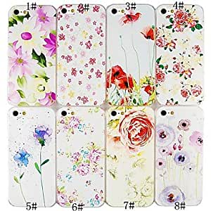 JJE Pure and Fresh Flowers Series Back Case for iPhone5/5S(Assorted Color) , 2#