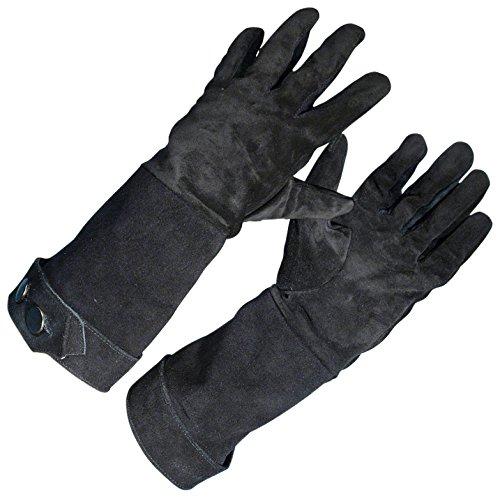 [Armor Venue - Suede Swordsman Gloves - Black One Size] (Medieval Gloves)