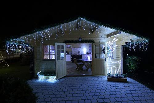 Luces navidad lluvia, LED frío, 6 m, exterior: Amazon.es: Iluminación