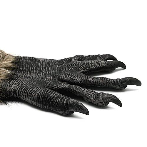 Vococal® Griffe de Loup 1 Paire Gants Halloween Carnaval Mascarade Cosplay Costume Party Décoration Accessoires
