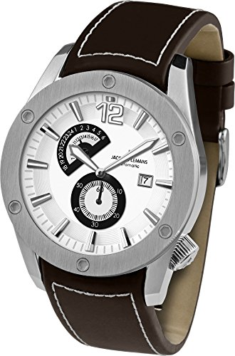 Jacques Lemans 46MM Liverpool Automatic Watch with a 24 Hour Sub-Dial1-1765B