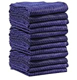 24 Premium Economy Moving Blankets (70 lbs Weight) 72'' x 80'' Navy Blue