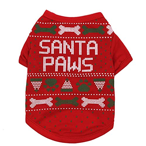 Dog Halloween Costumes for Dogs, Kitten Clothes, Cosplay Dress for Puppy, Fleece Hoodies Outfit Holiday Warm Jumpsuit…