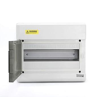 Caja de interruptor de circuito de caja de distribución de energía a prueba de agua IP66 PC de 12 vías: Amazon.es: Industria, empresas y ciencia