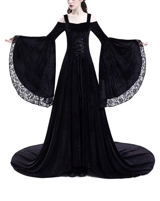 ShiFan Vestidos De Gala con Encaje Mujer Medievales Trajes De Princesa De Manga Larga con Hombros Descubiertos: Amazon.es: Ropa y accesorios