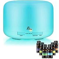 Difusor de Aceites Esenciales - Pesoo Difusor Aromaterapia 500 mL Humidificador de Aromaterapia Difusor de Aromas…