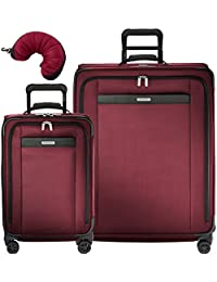 Transcend 3 Piece Spinner Set | Tall Carry-On Expandable Spinner | Large Expandable Spinner | Travel Pillow