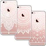 [3 Pack] iPhone 6 Case, iPhone 6S Case, Shumeifang Ultra Thin Soft Gel TPU Silicone Case Cover with Cute Cartoon for Apple iPhone 6/6S - 3 * Mandala