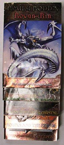 Emily Rodda's 5-book series Rowan of Rin -- Rowan of Rin, Rowan and the Travelers, Rowan and the Keeper of the Crystal, Rowan and the Zebak, and Rowan and the Ice Creepers